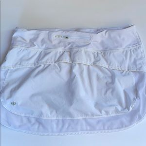 Lululemon white skirt/skort 8